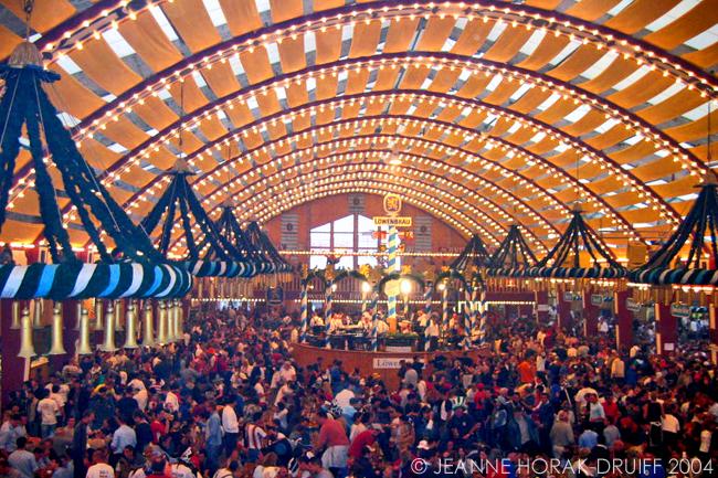 Lowenbrau beer tent at Munich Oktoberfest
