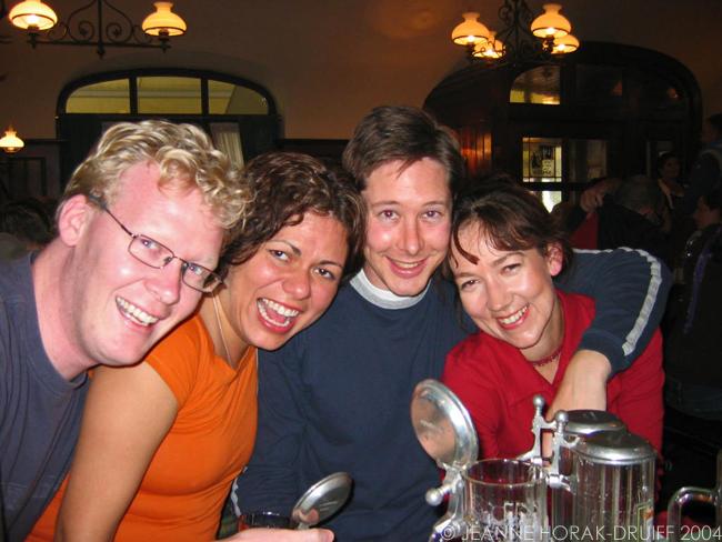 People drinking beer in Munich