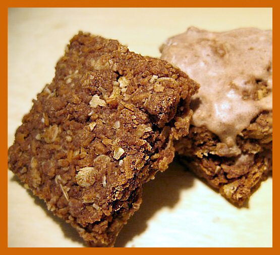 iced chocolate oat cookie bars