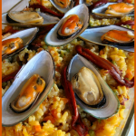 Paella for a Spanish wine afternoon