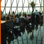 Guess who went to the Gherkin bar?
