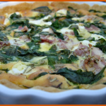 Spinach, bacon & feta quiche