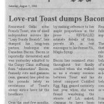 Love-rat Toast dumps Bacon for Egg!