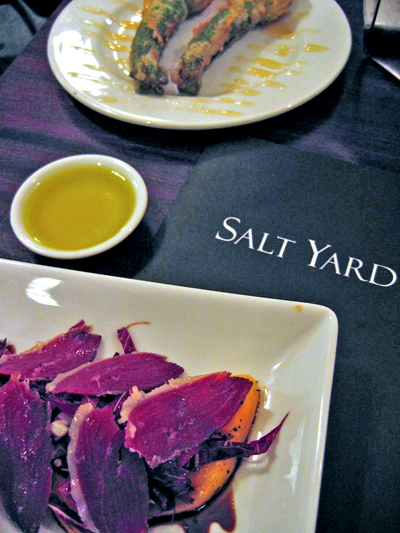 The Salt Yard cured duck with melon