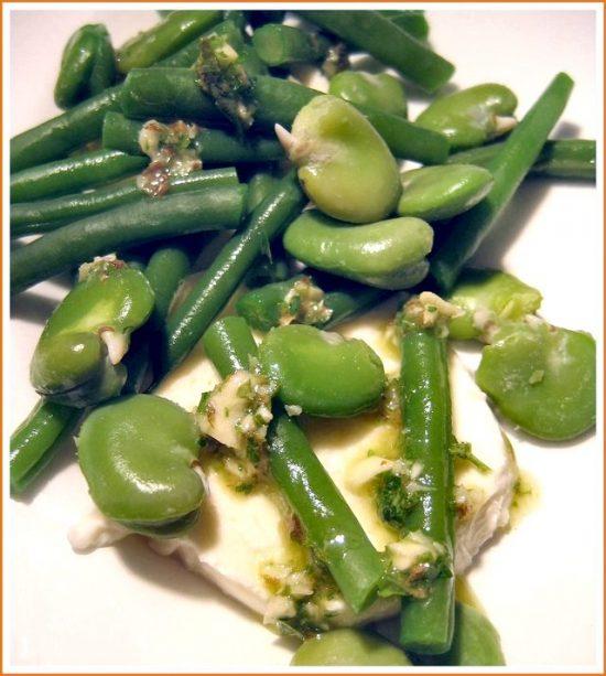broad-bean-green-bean-mozzarella-salad © Jeanne Horak 2019