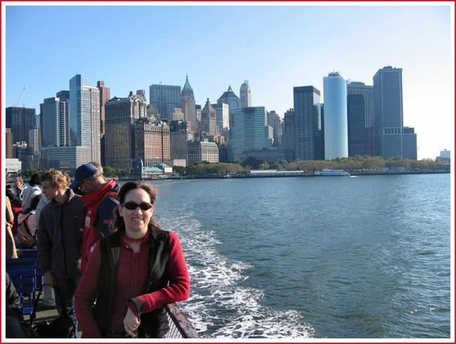 Liberty Island Ferry view New York