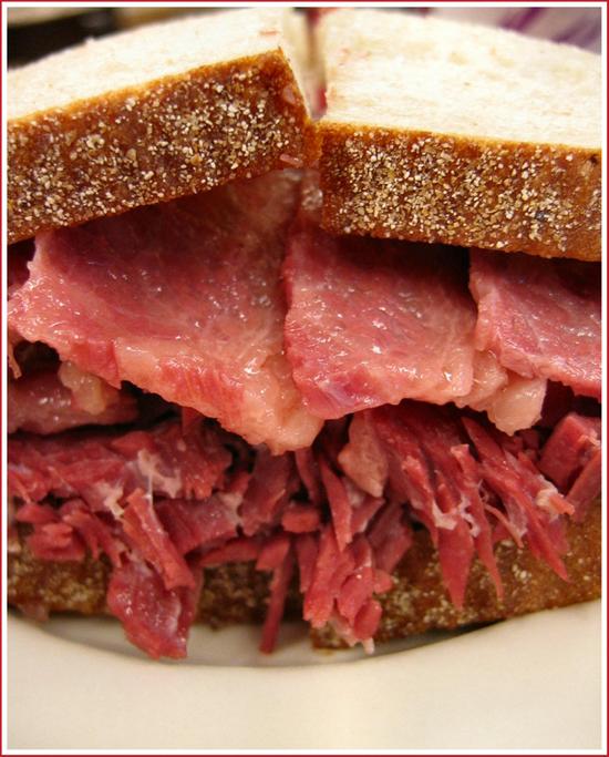 Katz's Deli corned beef sandwich