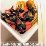 Baby pak choi and Peppadew stir-fry