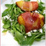 Roasted nectarines in Prosciutto – a summery starter