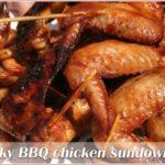 Sticky BBQ chicken sundowners