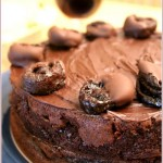 Chocolate, prune and armagnac cake