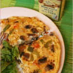 Three pepper and mushroom fritata