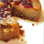 Cranberry & pear upside down cake