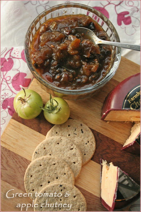 This easy spicy green tomato and apple chutney is the perfect way to use up the last of the tomatoes that refuse to ripen!