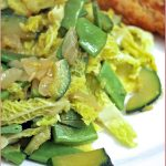 Savoy cabbage, courgette & runner bean stir-fry