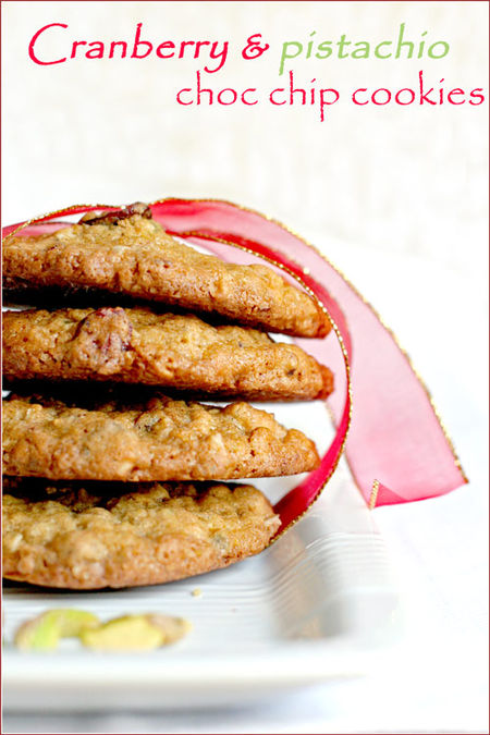Cranberry-pistachio-choc-chip-cookies