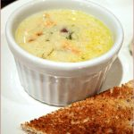 Smoked salmon and dill chowder