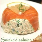 Smoked salmon paté moulds