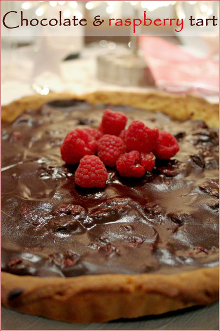 Dark-chocolate-raspberry-tart