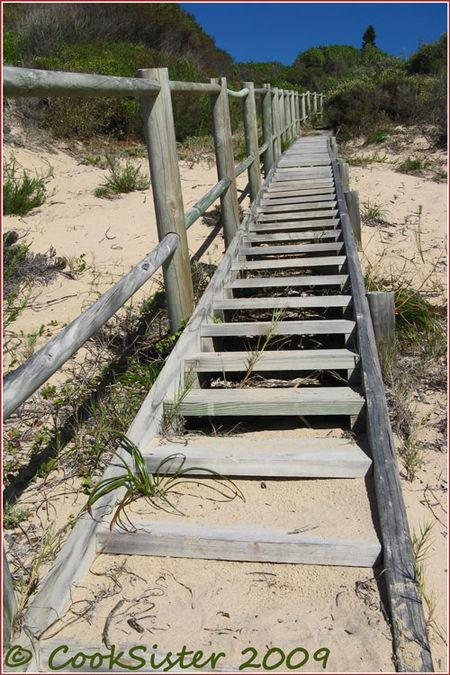 Wooden-beach-stairs