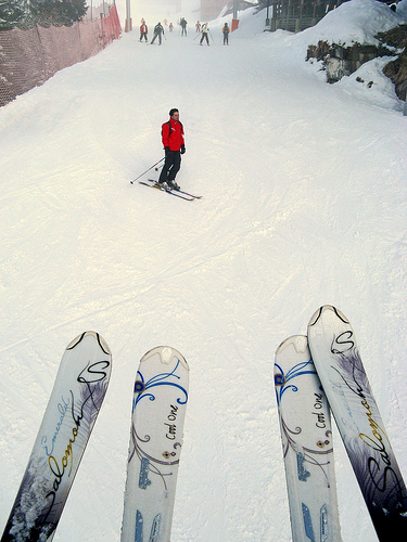 View from a chair lift