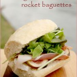 Brie, fig, Parma ham & rocket baguettes for our Henley Regatta picnic