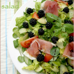Blackberry and Prosciutto salad