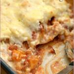 Chicken, roasted butternut and feta lasagne