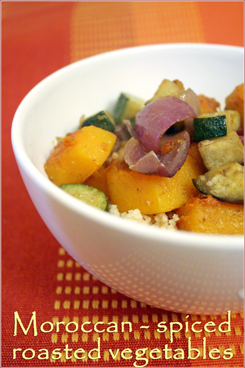 Moroccan-spiced roasted vegetables I