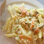 Smoked salmon penne – quick, easy & indulgent