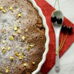 Chocolate and cherry clafoutis – with wild cherries
