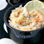 Prawn and lemon pepper risotto