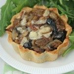 Olive & onion tartlets