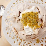 Passion fruit pavlova to celebrate CookSister's 7th birthday