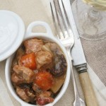 Pork and cider hotpot with prunes for a very English lunch