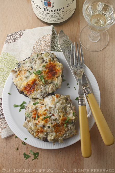 These crab-stuffed Portobello mushrooms are oh-so-easy to make but are a guaranteed dinner party show-stopper!