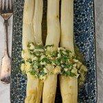 Asparagus a la Flamande and a stroll through Rue Grenelle market in Paris