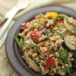 Farro and roasted vegetable salad © J Horak-Druiff 2012