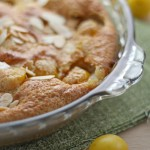 Mirabelle plum and Cognac clafoutis