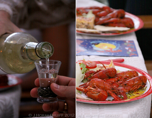 Malmo crayfish party food & drink © J Horak-Druiff 2012