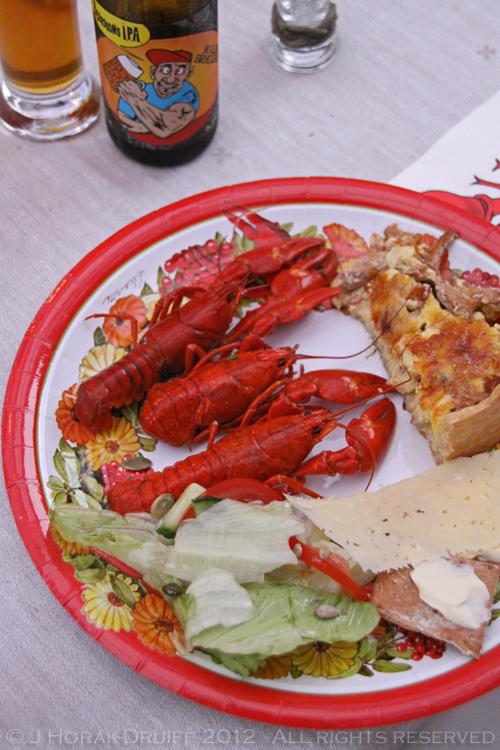 Malmo crayfish party my plate © J Horak-Druiff 2012