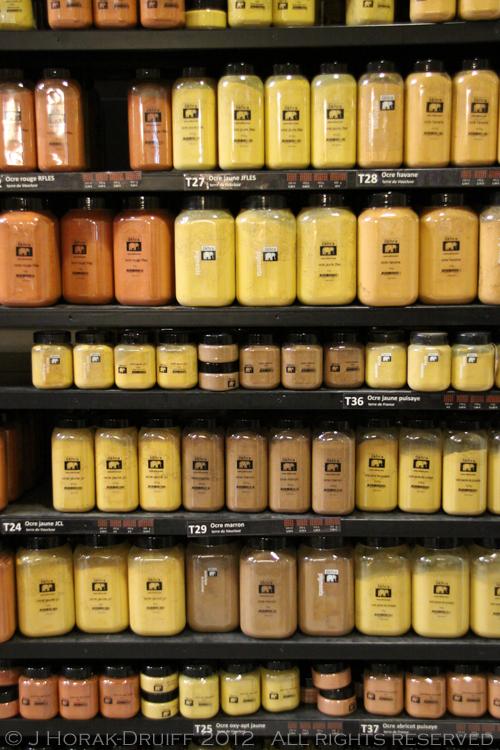 Ochre Conservatory Pigment Bottles © J Horak-Druiff 2012