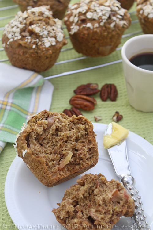 Pear oat muffins cut © J Horak-Druiff 2012