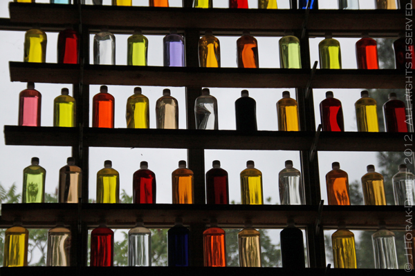 Saturday Snapshot coloured bottles © J Horak-Druiff 2012