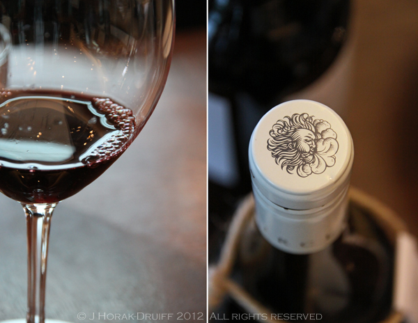 Waterkloof red wine detail © J Horak-Druiff