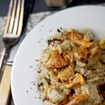 Chicken and chanterelle mushroom fricassee