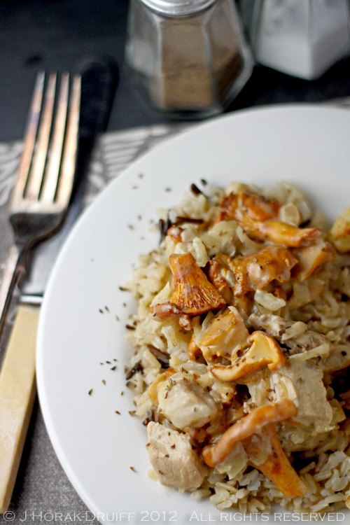 Post image for Chicken and chanterelle mushroom fricassee