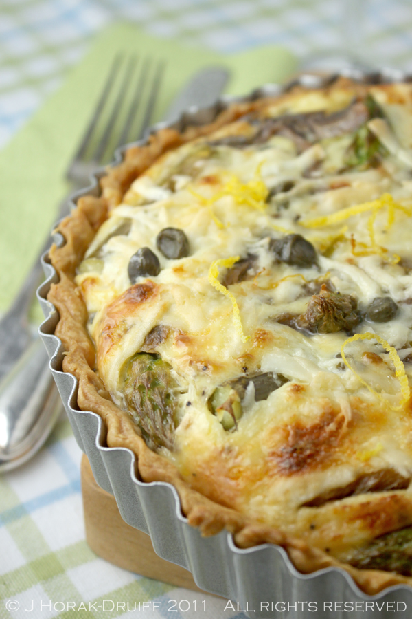 Post image for Asparagus, anchovy, lemon and caper quiche – and a book giveaway