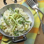 Asparagus, lemon and mint risotto