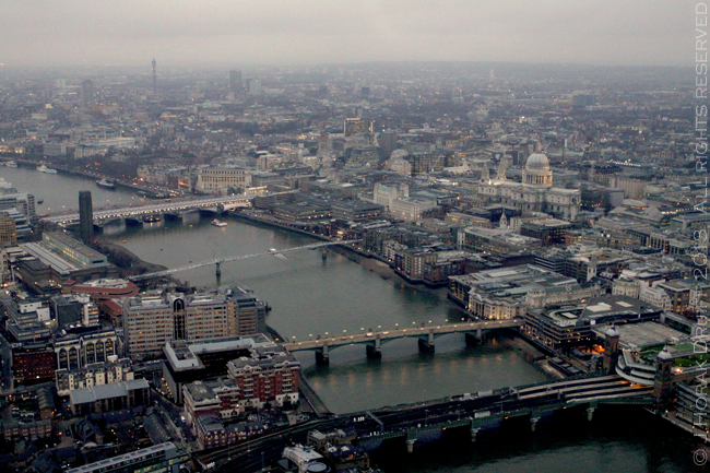 View from The Shard bridges © J Horak-Druiff 2013